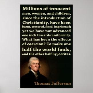 トーマス・ジェファーソン の半分の愚か者、半分の偽善者 ポスター