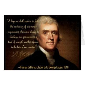 トーマス・ジェファーソン カード