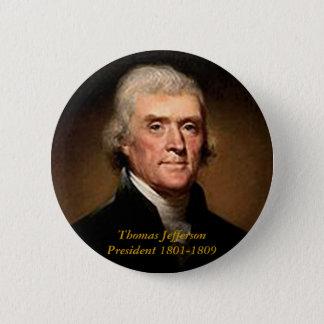 トーマス・ジェファーソン-ボタン 缶バッジ