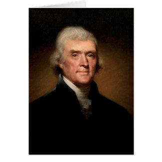 トーマス・ジェファーソン: 中プロ銃メッセージ カード