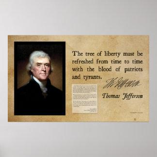 トーマス・ジェファーソン-自由の木 ポスター