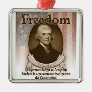 トーマス・ジェファーソン-自由 メタルオーナメント