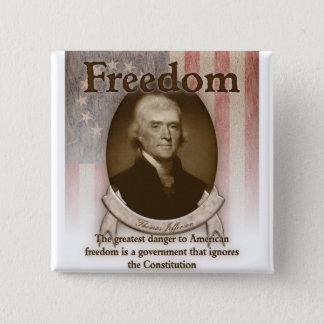 トーマス・ジェファーソン-自由 缶バッジ