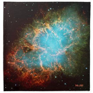 トーラスの署名された蟹星雲 ナプキンクロス