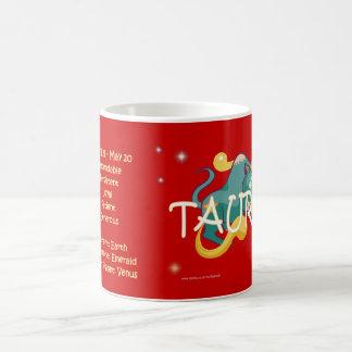 トーラスの(占星術の)十二宮図のキャラクター コーヒーマグカップ