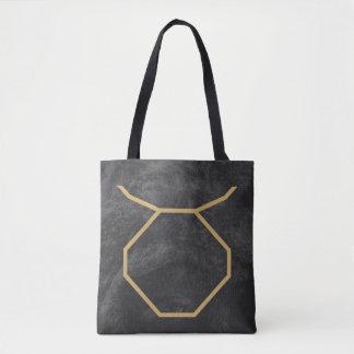 トーラスの(占星術の)十二宮図の印|のカスタムな背景 トートバッグ