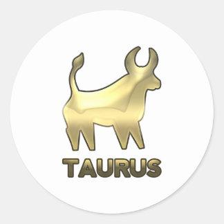 トーラスの(占星術の)十二宮図の印-古い金ゴールドの版 ラウンドシール