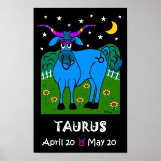 トーラス- (占星術の)十二宮図ポスター ポスター
