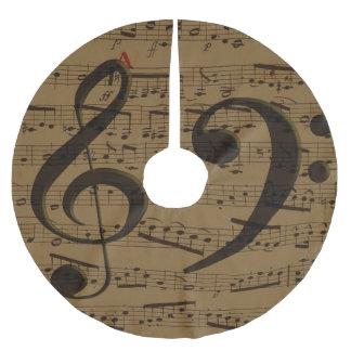 ト音記号の低音の楽譜 ブラッシュドポリエステルツリースカート