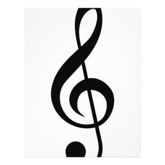 ト音記号のGクレフ、音符記号のミュージカルの記号 チラシ