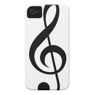 ト音記号のGクレフ、音符記号のミュージカルの記号 Case-Mate iPhone 4 ケース
