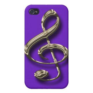 ト音記号のiphone 4ケース iPhone 4 カバー
