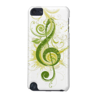 ト音記号のipod touch緑の5Gの箱 iPod Touch 5G ケース