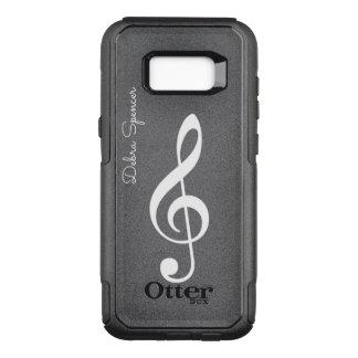 ト音記号、名前入りな音楽 オッターボックスコミューターSamsung GALAXY S8+ ケース
