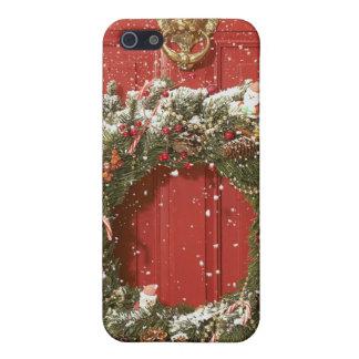 ドアでつるすクリスマスのリース iPhone 5 ケース