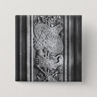 ドアのパネル、アンリーIIのスタイル、c.1556 5.1cm 正方形バッジ