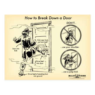 ドアの郵便はがきを破壊する方法 ポストカード