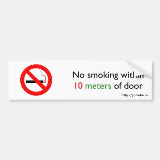 ドアの10メートル以内に禁煙 バンパーステッカー