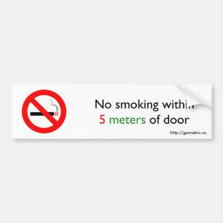 ドアの5メートル以内に禁煙 バンパーステッカー