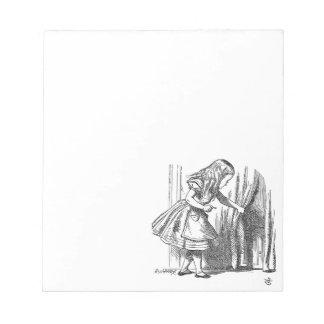 ドアを捜す不思議の国のヴィンテージアリス ノートパッド