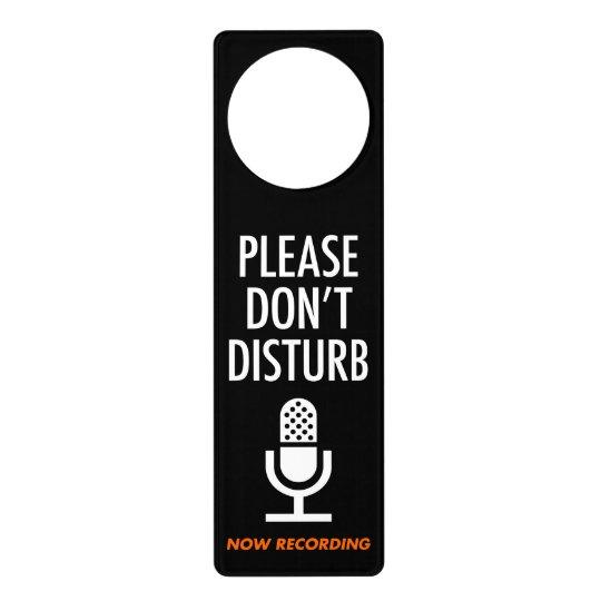 ドアプレート(収録中につき入室禁止) ドアノブプレート