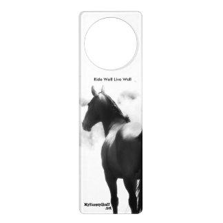 ドア・ハンガー、騎手、馬 ドアノブプレート