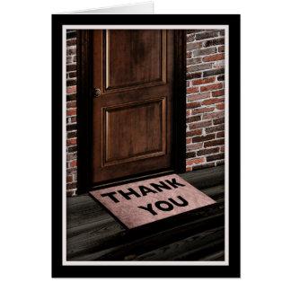 ドア・マットありがとう カード