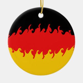 ドイツすごい旗 陶器製丸型オーナメント