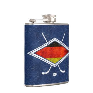 ドイツのアイスホッケーのロゴの旗のスキットル フラスク