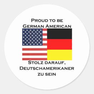 ドイツのアメリカ人があること誇りを持った ラウンドシール