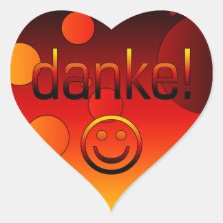 ドイツのギフト: あなた/Dankeを感謝していして下さい + スマイリーフェイス ハートシール