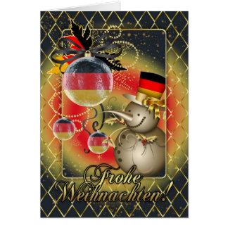 ドイツのクリスマスカード- Frohe Weihnachten カード