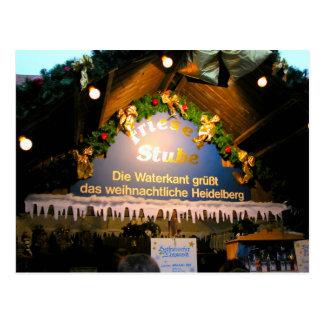 ドイツのクリスマス、お祝いのクリスマスの市場のstube ポストカード