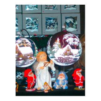 ドイツのクリスマス、ハイデルベルクのクリスマスの市場 ポストカード