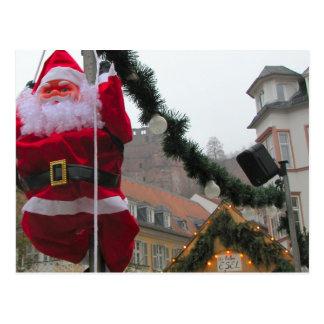ドイツのクリスマス、ハイデルベルクサンタ ポストカード