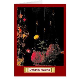 ドイツのクリスマス、ライトおよび蝋燭 カード