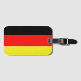 ドイツのシンプルの旗 ラゲッジタグ