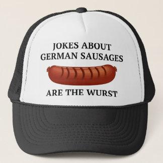 ドイツのソーセージについての冗談はWurstです キャップ