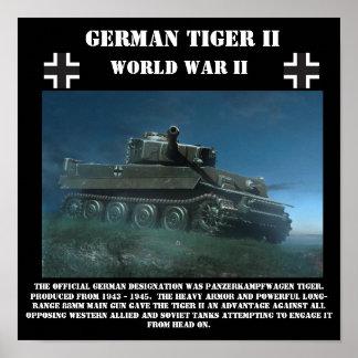 ドイツのトラIIの重いタンク-第二次世界大戦のプリント ポスター