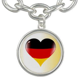 ドイツのハート チャームブレスレット