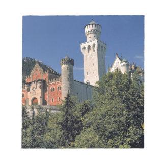 ドイツのババリア、ノイシュヴァンシュタイン城城 ノートパッド