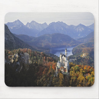 ドイツのババリア、ノイシュヴァンシュタイン城城。 王 マウスパッド