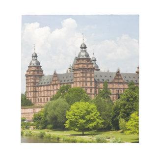 ドイツのババリア、Bayern、アシャッフェンブルク。 Schloss ノートパッド