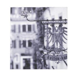 ドイツのババリア、Rottenburg。 ホテルの印 ノートパッド