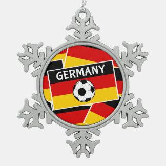 ドイツのフラグフットボール スノーフレークピューターオーナメント