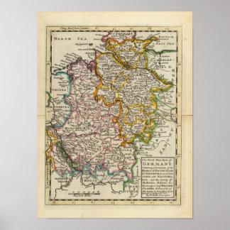 ドイツの北西部分 ポスター
