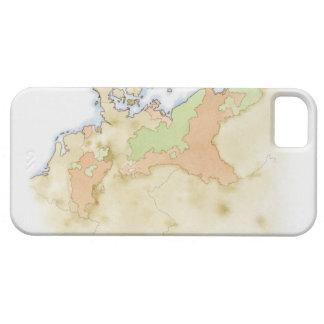 ドイツの地図のイラストレーション iPhone SE/5/5s ケース