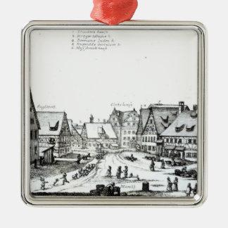 ドイツの市場町1704年 メタルオーナメント