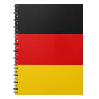 ドイツの旗が付いているノート ノートブック