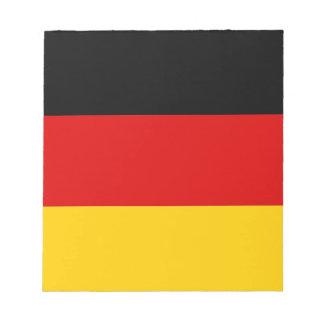 ドイツの旗が付いているメモ帳 ノートパッド